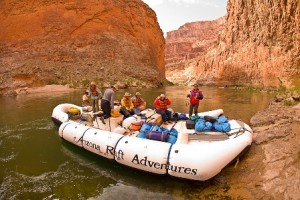 Motorized Raft Colorado River