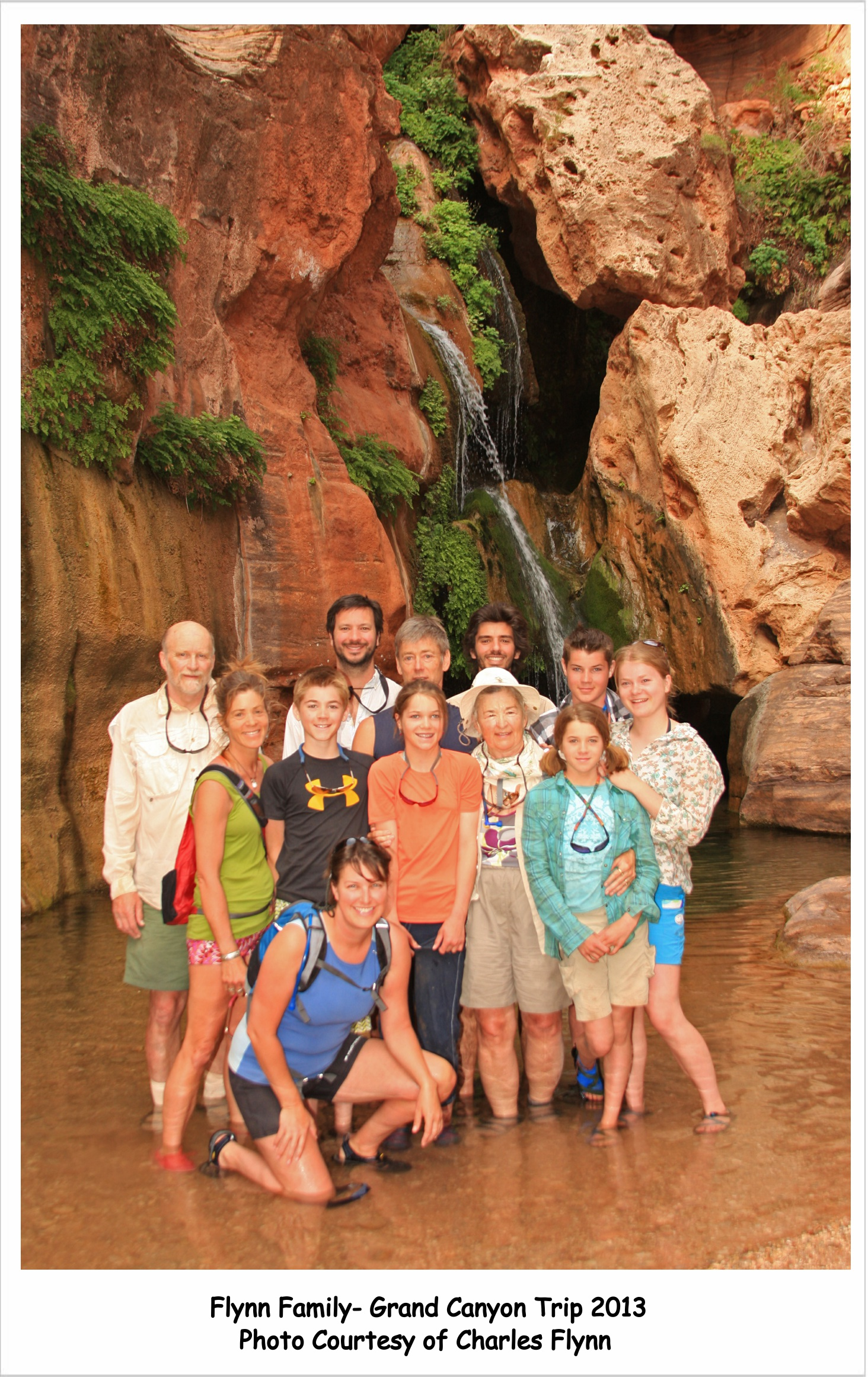Multiple Generation Grand Canyon Rafting Family