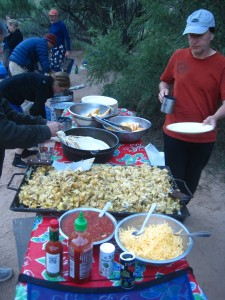 Southwestern taco dinner, with all of the fixins! Photo by: Sanjiv G.