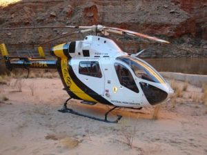 medical helicopter evacuation grand canyon