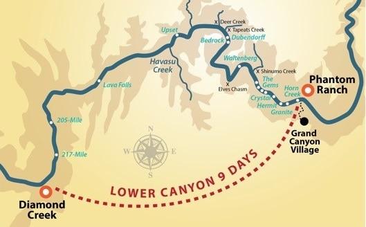 Paddle Lower Canyon