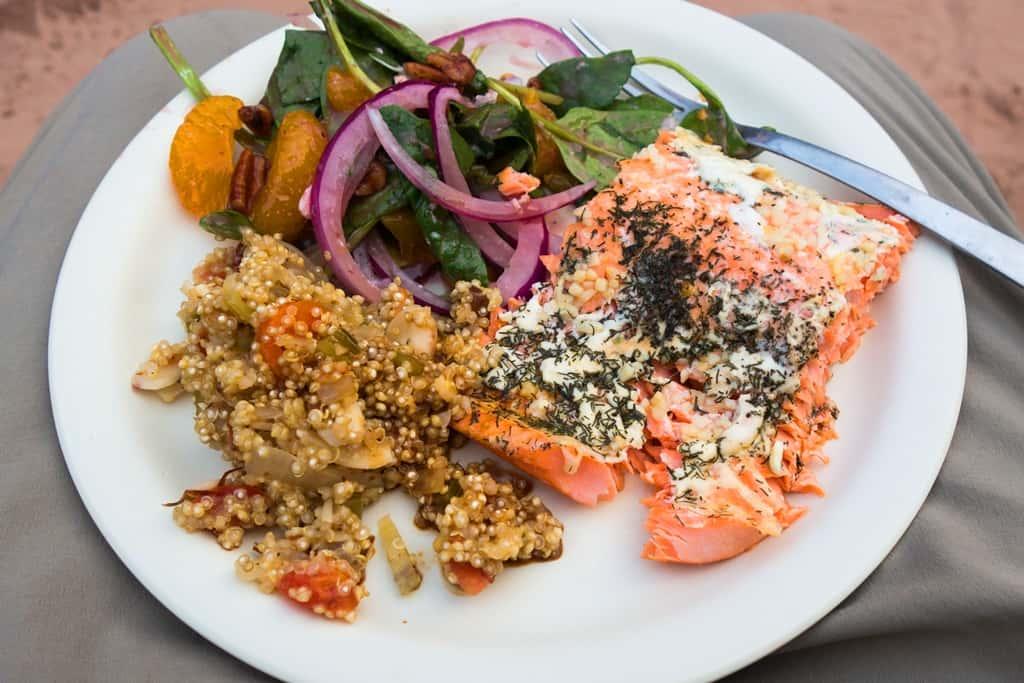 Salmon dinner by Ed Ettel